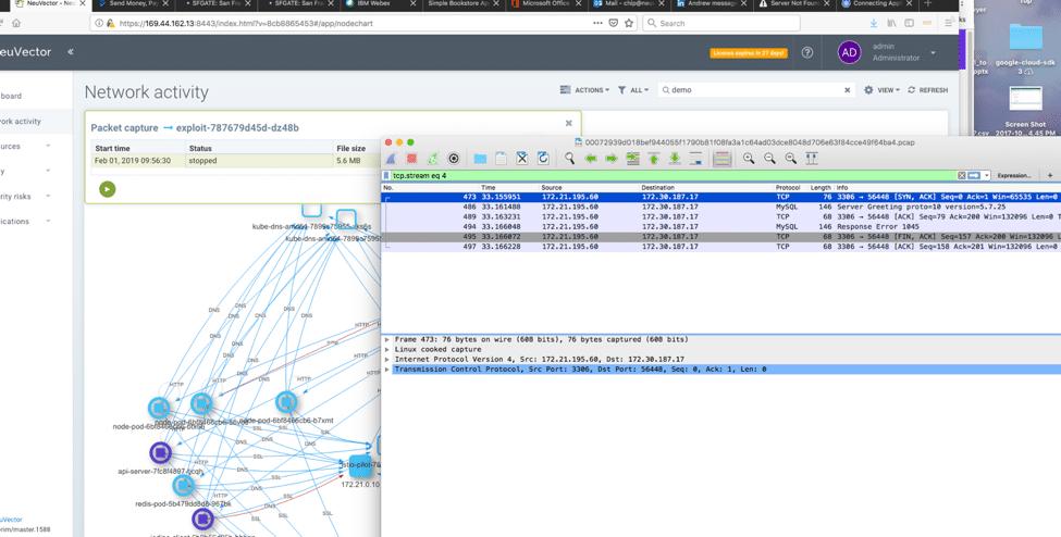 Figure 9. Automated Network Capture